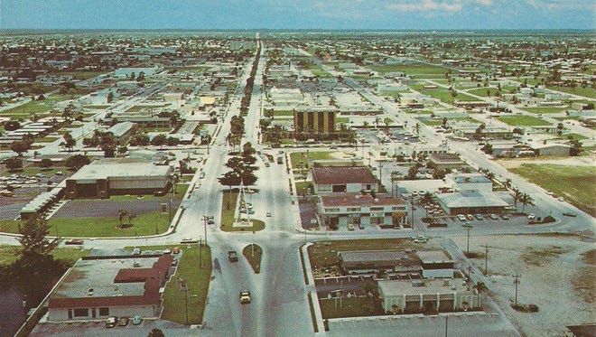 Aerial photo of early Cape Coral