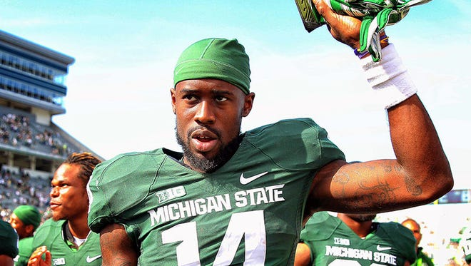 Michigan State wide receiver Tony Lippett