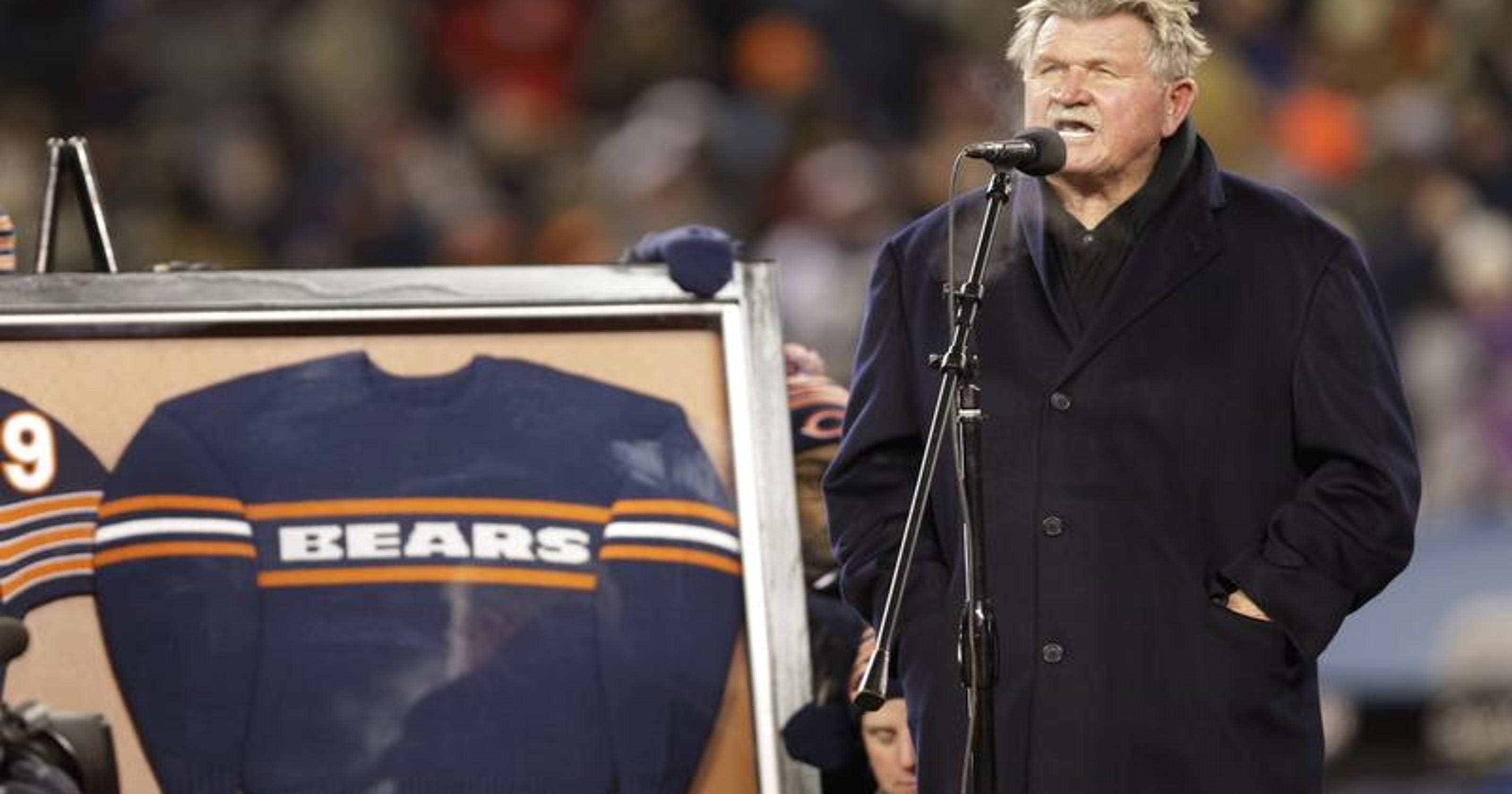 68e9e1a3029 Chicago Bears retire Mike Ditka's number