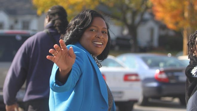 Rochester Mayor-elect Lovely Warren on the day she was elected. in 2013.