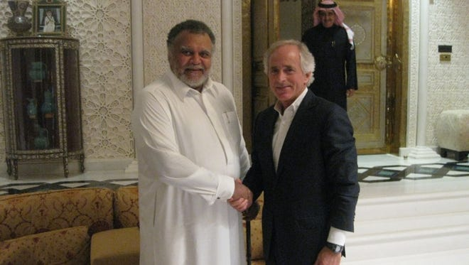 Sen. Bob Corker, R-Tenn., meets with Prince Bandar bin Sultan, Saudi Arabia's chief of intelligence, in Riyadh in December.