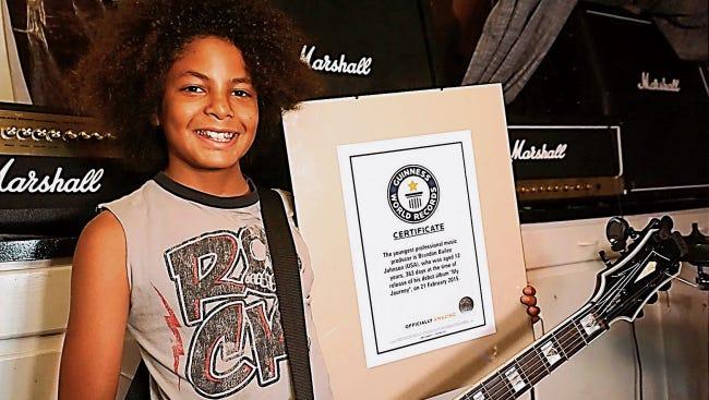 Brandon Johnson is a world record holder.