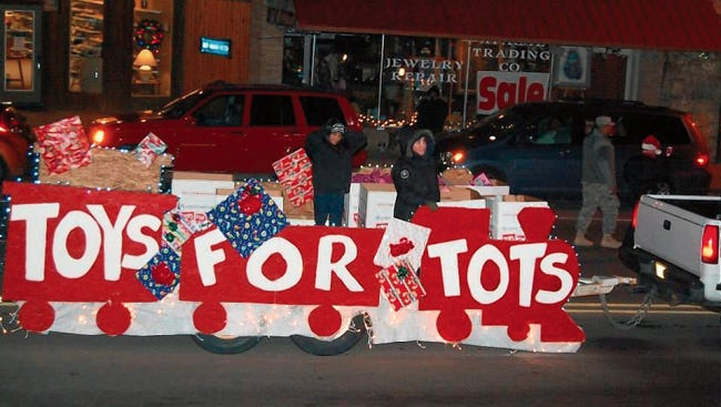 Toys for Tots once again will be collecting toys during the parade Dec. 5 that go to disadvantaged youth in our area.