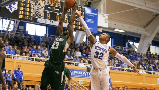 The defense of Derrick Gordon (32) will be crucial for Seton Hall against Georgia.