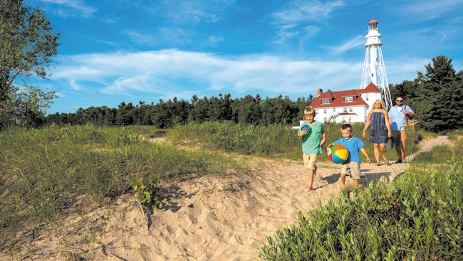 Campsites are within walking distance of the beach at Point Beach State Forest in Two Rivers.