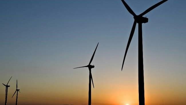 Wind turbines in Texas.
