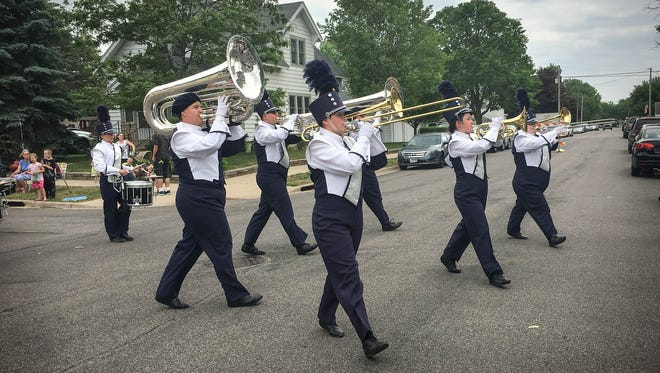 The Solar Sound Marching Band performed for the crowd in the Waite Park Family Fun Fest parade on Saturday, June 10.