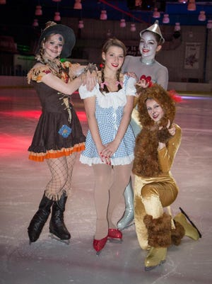 "The cast of the Space Coast Iceplex's show ""A Journey to Oz."""
