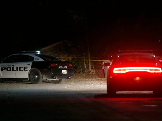 Springfield Police investigate an officer involved shooting early on Thursday, Nov. 26, 2015.