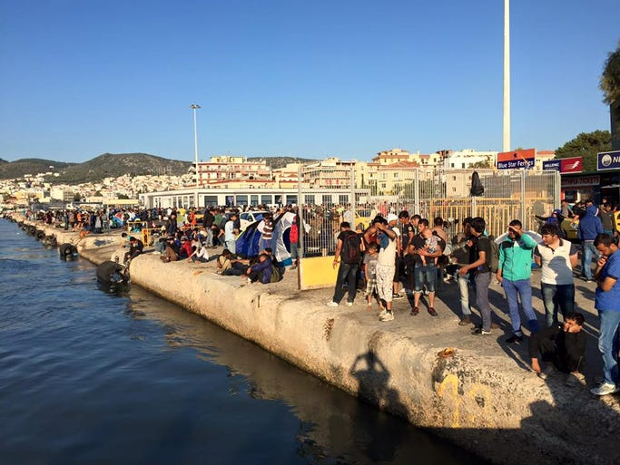 There are thousands of migrants and refugees waiting