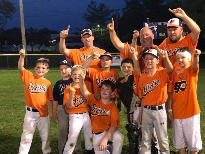Capitol Little League minor A champions: Orioles (front