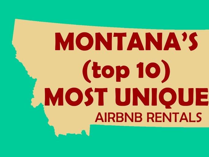 Montana's top 10 Airbnb rentals