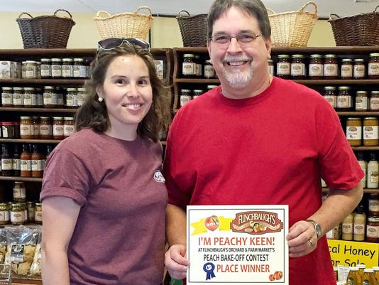 Kenneth Robinette took first place in the Flinchbaugh's Peach Bake-off Contest with his Peach Red Raspberry Crisp.