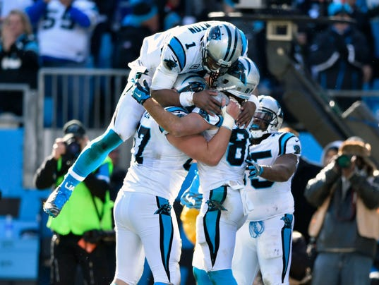 USP NFL: NFC DIVISIONAL-SEATTLE SEAHAWKS AT CAROLI S FBN USA NC