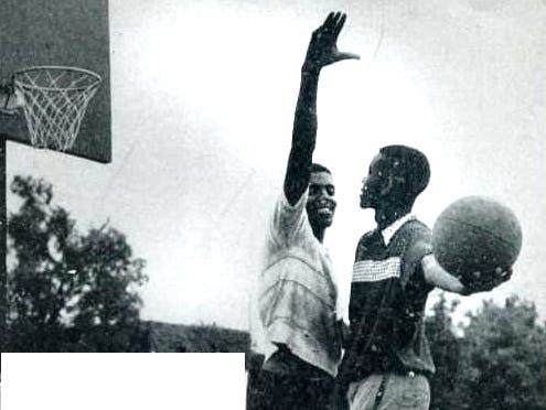 Cleveland Harp and Willie Gardner at the Lockefield Gardens Dust Bowl.