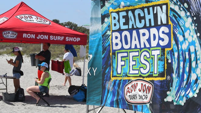 The annual Ron Jon Beach 'N Boards Surf Fest runs from March 14-17 at Shepard Park in Cocoa Beach, behind Ron Jon Surf Shop.