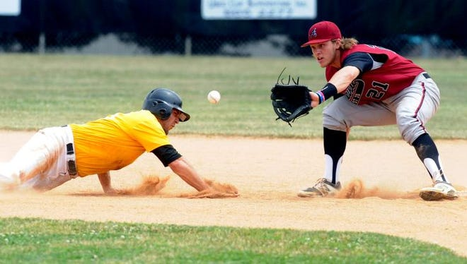 Carson Jones, right, and the Asheville American Legion Post 70 baseball team finished second in the Western Division.