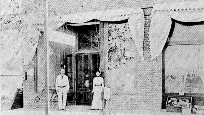 Until 1937 when Mesa got its first federally built post office, private contractors provided the service, as seen in this early 20th century photo of a Post Office on Main Street.