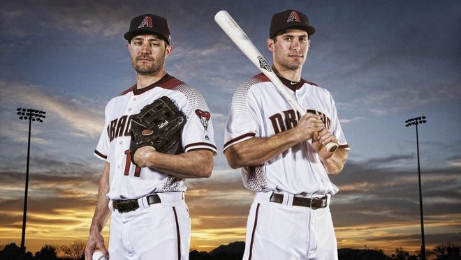 Arizona Diamondbacks players AJ Pollock, left, and Paul Goldschmidt are hoping that a new day is dawning for the team in 2017. They pose at Salt River Fields at Talking Stick, Tuesday, Feb. 21, 2017.