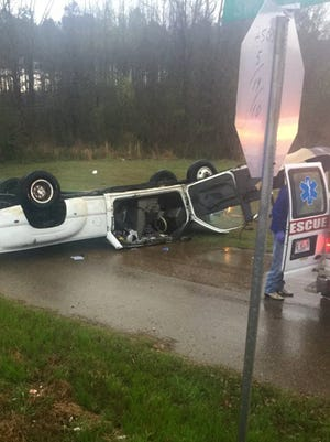 A man was killed in this single-vehicle crash in Madison County, Miss.