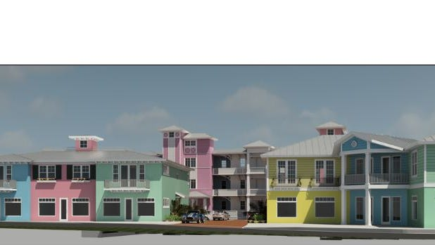 The Stuart City Commission approved  condominiums with some retail to rise on vacant land on Seminole Street.
