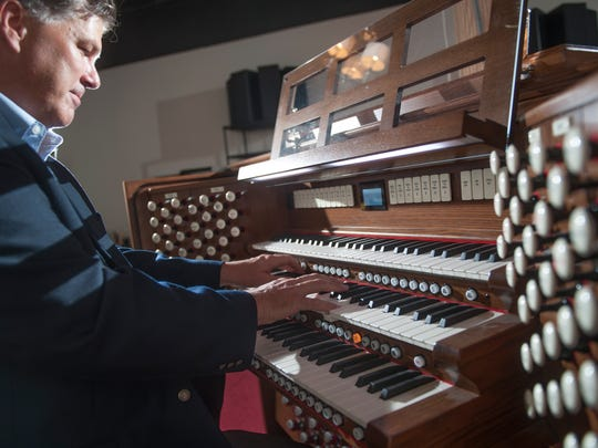 Rich Galassini, a Berlin Borough resident and co-owner of the Cunningham Piano Company located in Philadelphia's Germantown section plays the organ that his company is donating to be used at the World Meeting of Families and the Papal Mass on the Parkway.  In addition, Galassini, a pianist and trained tenor who is a musical director at St. Simon Stock parish in Berlin, will be among the choir singers performing for Pope Francis.