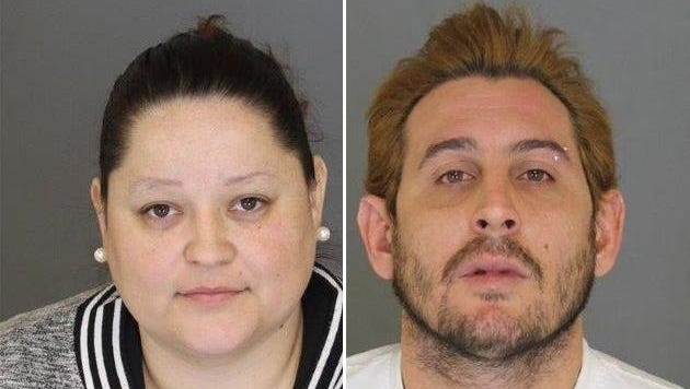 Veronica Perez and her husband Omar Rivera-Baez were arraigned in the theft of a wedding ring.