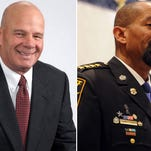 Sheriff David A. Clarke, Jr. (right) and Rep. Bob Gannon (R-Slinger) are criticizing Milwaukee Mayor Tom Barrett and other top officials for their handling of crime.