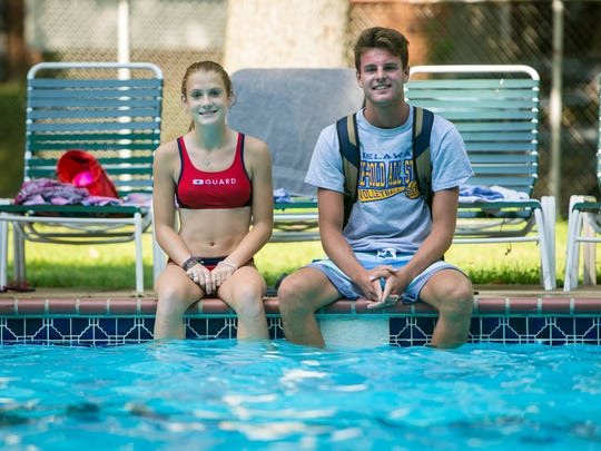 Concord High School student Samantha Rineer, 16, and Mount Pleasant graduate Luke Christman, 18, along with and Ridge Logan, 16, helped save the life of a 6-year-old boy Sunday at Green Acres Swim Club in Brandywine Hundred.
