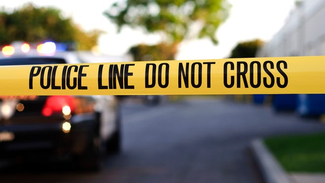 A police crime scene tape close-up