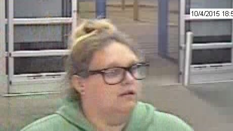 A suspect in a theft from Walmart Sunday night.