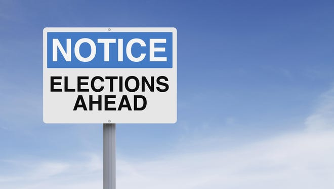 A notice sign on elections or voting