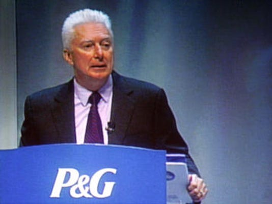 pg lafley podium lean forward