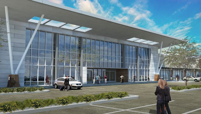 An artist's rendering of the planned Centrica office project at Southern Avenue and Longmore in Mesa. The project will reconfigure a vacant shopping plaza into over 100,000-square-feet of office space. It should be open by early 2015.
