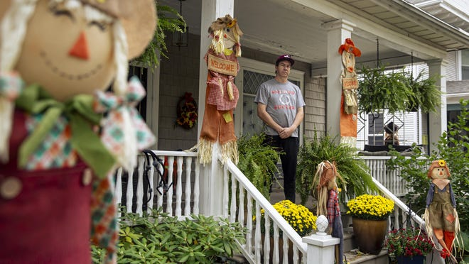 """Halloween is a favorite holiday for Jerrod Humphrey and his family as their home's front porch is part of the ever popular trick-or-treat section of Holmes Avenue in Springfield and they hope to continue the tradition safely during the COVID-19 pandemic. """"You've just got to follow what the people in charge say, and you move forward from there,"""" said Humphrey. Springfield, in concert with nearby Grandview, Jerome, Southern View and Leland Grove, has set 4-8 p.m. on Halloween as trick-or-treat hours, with some special guidelines."""