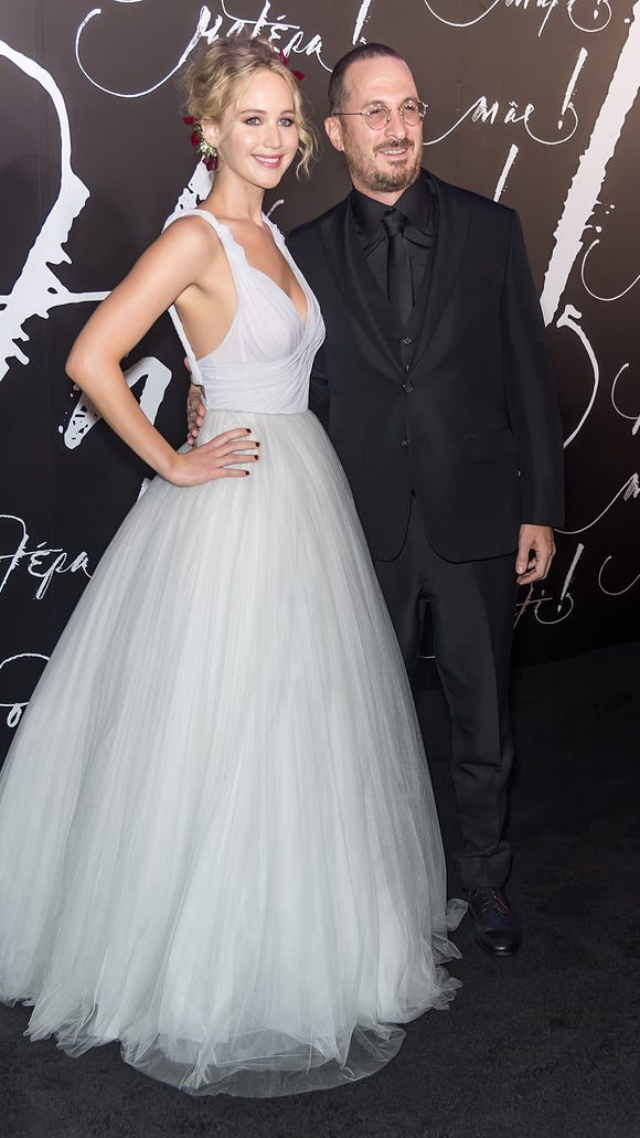 J-Law looks like a princess with her prince charming.