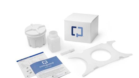 The Cologuard test is the first to look for cancer-related DNA in stool, and was approved by the Food and Drug Administration last month.