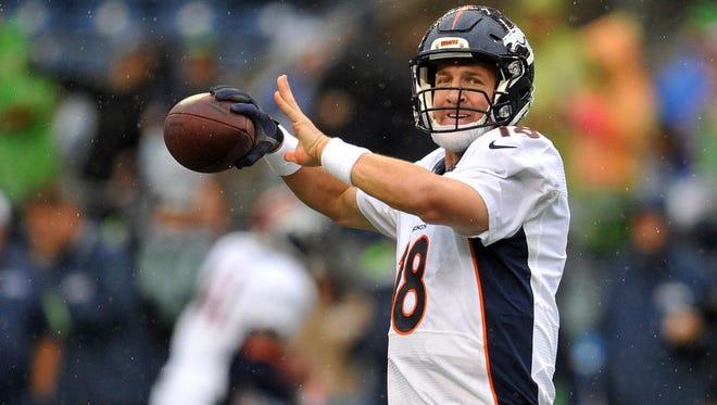 Peyton Manning will make his preseason debut on Saturday against the Houston Texans.