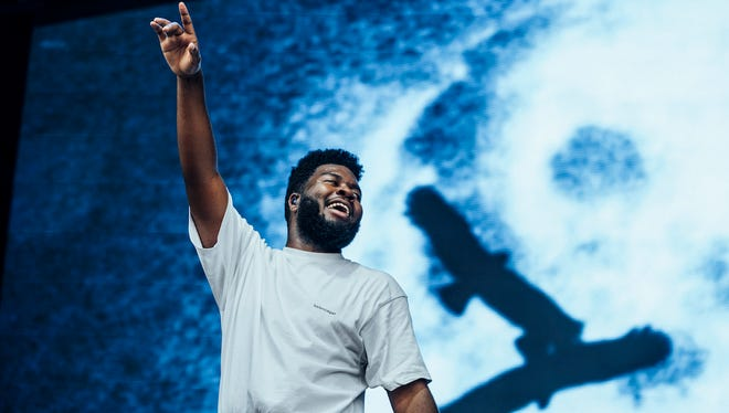 Khalid performs at Lollapalooza in Chicago Thursday.
