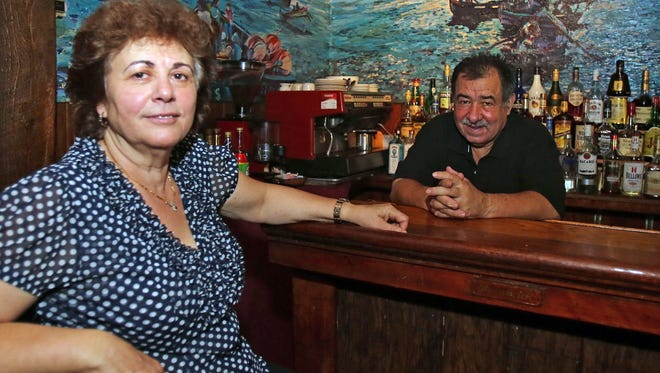 Tony and Maria Dos Reis are photographed at their restaurant Tony's Steak & Seafood in Hastings-on-Hudson Oct. 21, 2016.