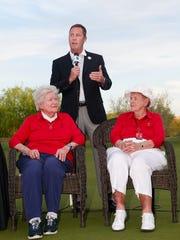 Palm Desert's Shirley Spork (right)  and fellow LPGA