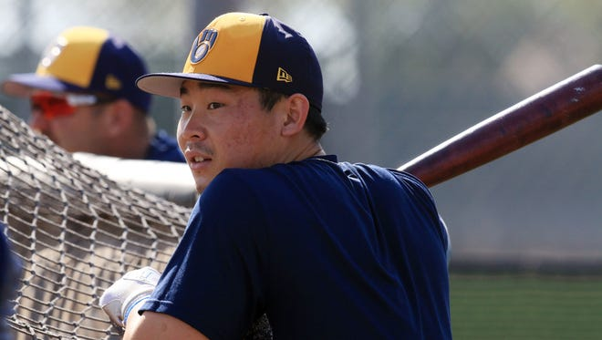 Second baseman Keston Hiura is one of the Brewers' top prospects.