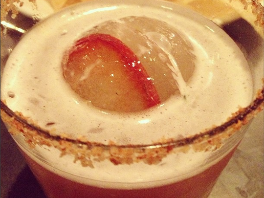 An Instagram shot of Delicia's Fire 'N' Ice cocktail.