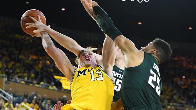 Michigan State remained ahead of Michigan in the Associated Press Top 25 poll for all of one week, with the Wolverines climbing to No. 7 this week, and the Spartans dropping to No. 9.