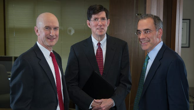 Cobblestone Capital's leadership team: Pete Greaves-Tunnell, left, co-founding partner; Tom Bartlett, co-founding partner; John DiPasquale, managing partner.