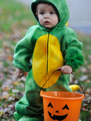 This year, trick-or treaters will roam the streets of Mansfield from 5:30 to 7 p.m. Oct. 25. Monsterfield Mansquerade, the Downtown Mansfield Business trick-or-treat, will be 11 a.m. to noon Oct. 27. The parade steps off at noon. This little monster was spotted in 2012.