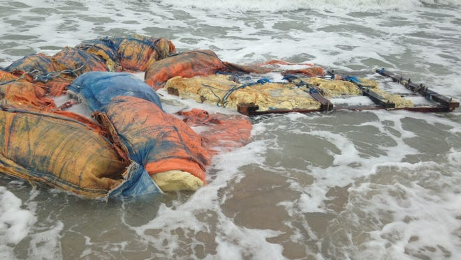 Large pieces of a homemade boat likely from Cuba have washed ashore again in Melbourne Beach.