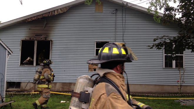 Crews responded to a fire at a Riverside home.