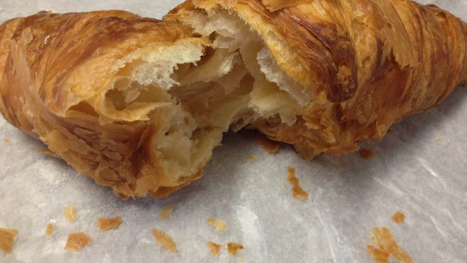 A plain croissant from the French Crust