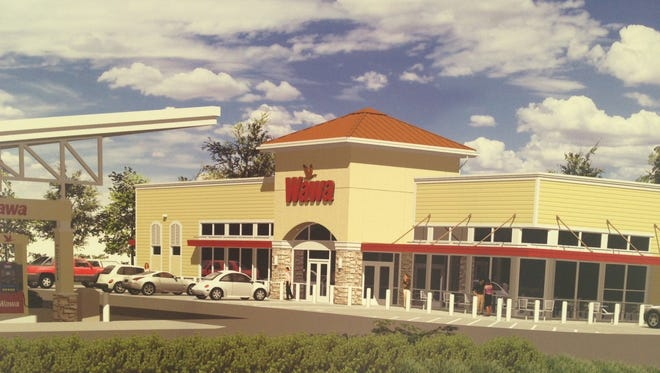 Artist rendering of Wawa store in Fort Myers.